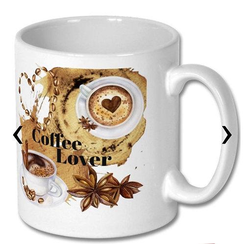 Coffee Lover Themed Personalised Mug