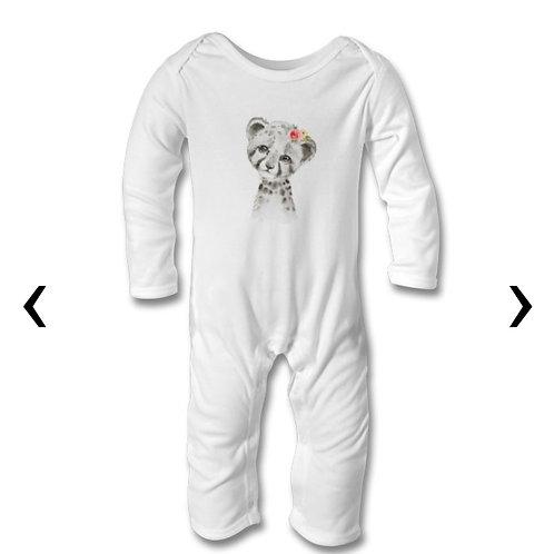 Cheetah Themed Personalised Baby Bodysuit