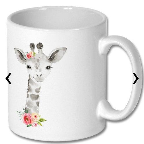 Giraffe Themed Personalised Mug