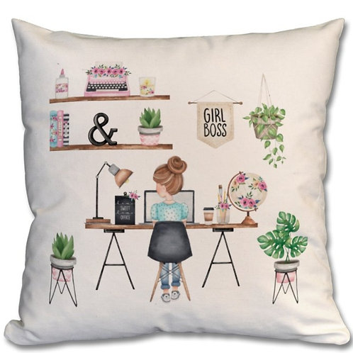 Girl Boss Themed Personalised Cushions