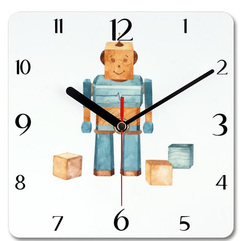 Wooden Toys Themed Personalised Square Clock
