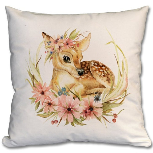 Deer with flowers Themed Personalised Cushions