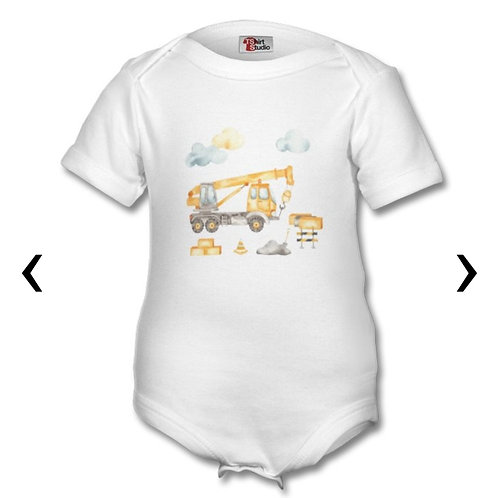 Crane Themed Personalised Baby Grows