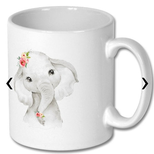 Cute Elephant Themed Personalised Mug