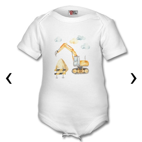 Excavator Themed Personalised Baby Grows