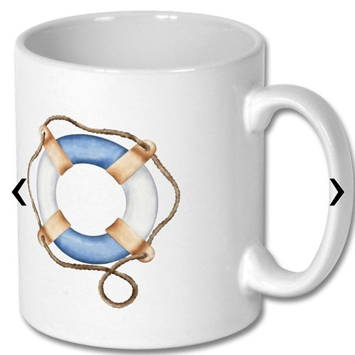 Lifebuoy Ring Themed Personalised Mug