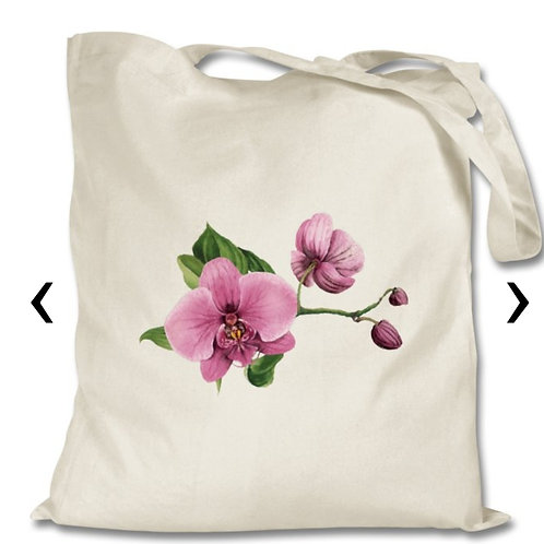 Orchids_2 Themed Personalised Tote Bag