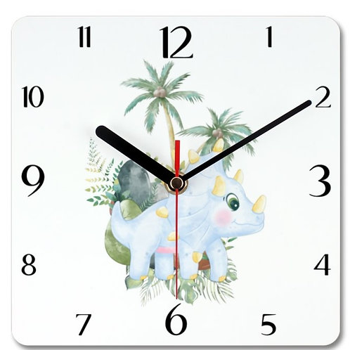 Dinosaur_3 Themed Personalised Square Clock