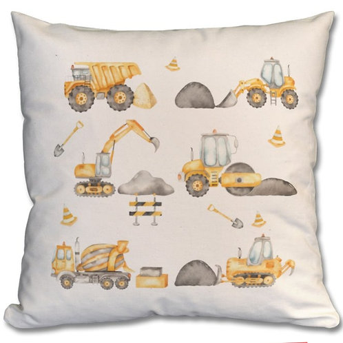 Construction Vehicles Themed Personalised Cushions