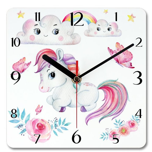 Pony_3 Themed Personalised Square Clock
