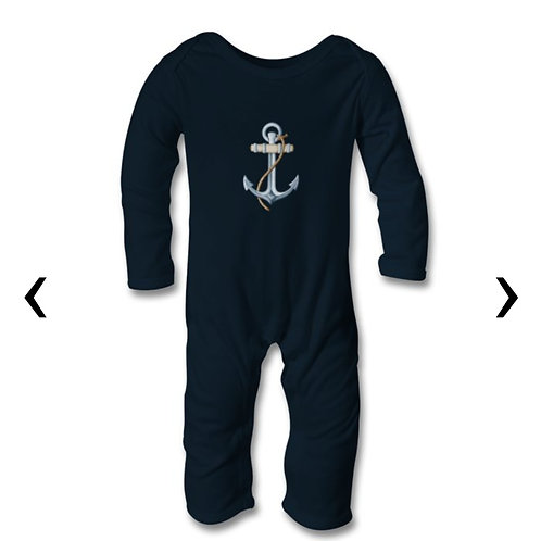 Anchor Themed Personalised Baby Bodysuit