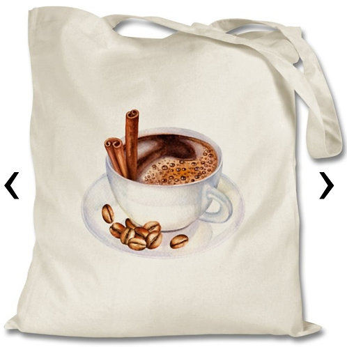 Coffee_6 Themed Personalised Tote Bag