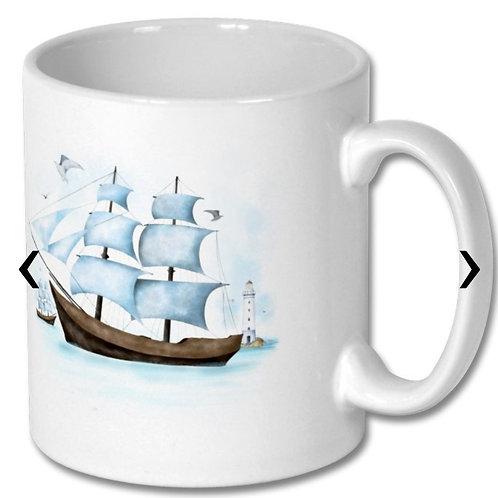 Sailboat Themed Personalised Mug