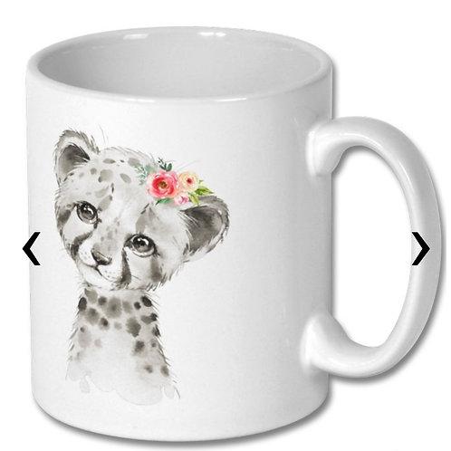 Cheetah Themed Personalised Mug