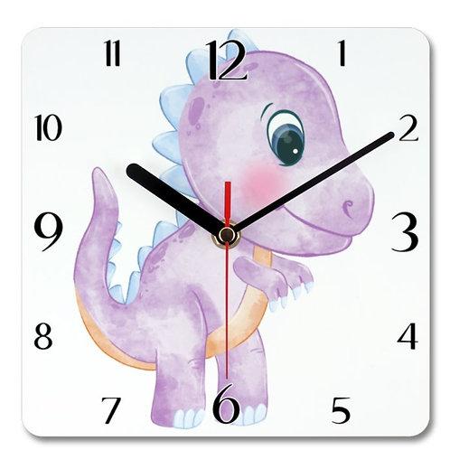 Dinosaur_7 Themed Personalised Square Clock