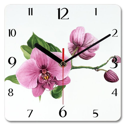 Orchids_2 Themed Personalised Square Clock