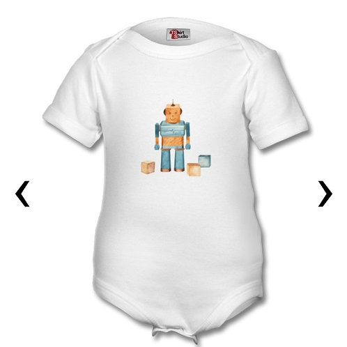 Wooden Toys Themed Personalised Baby Grows