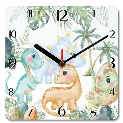 Dinosaurs_2 Themed Personalised Square Clock