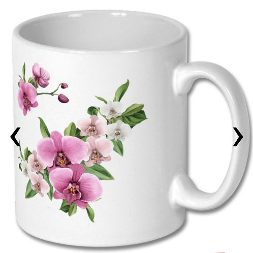 Orchids Themed Personalised Mug