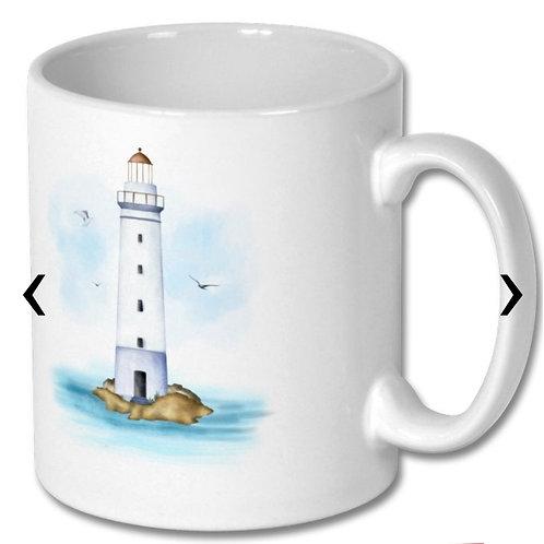 Lighthouse Themed Personalised Mug