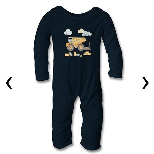 Dump Truck_2 Themed Personalised Baby Bodysuit