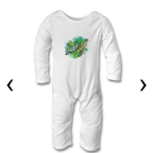 Sea Turtle Themed Personalised Baby Bodysuit