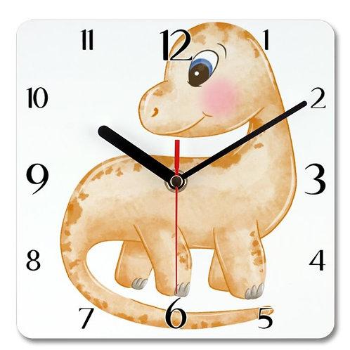 Dinosaur Themed Personalised Square Clock