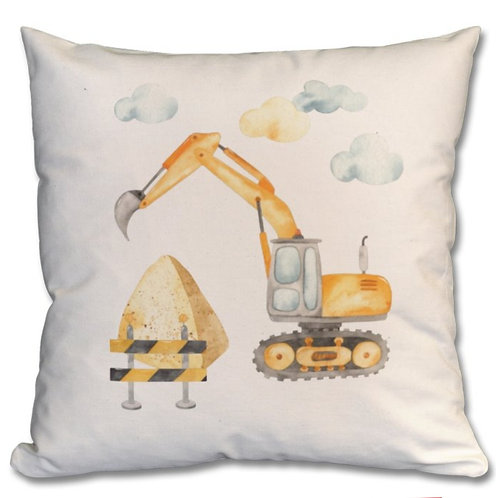 Excavator Themed Personalised Cushions