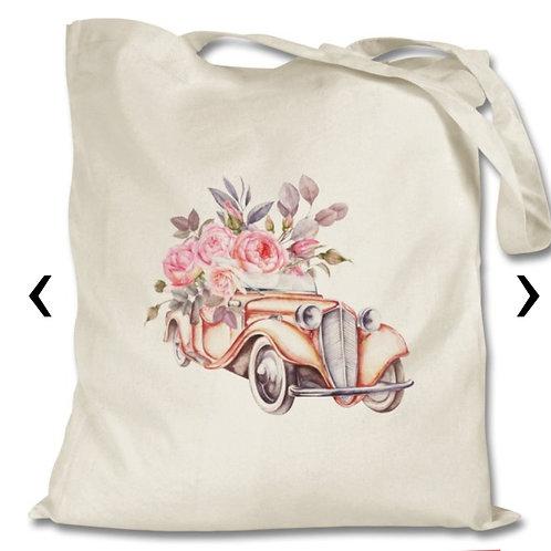 Vintage Car Themed Personalised Tote Bag