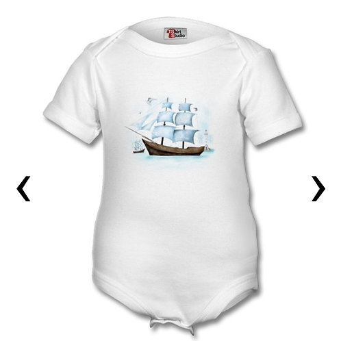 Sailboat Themed Personalised Baby Grows