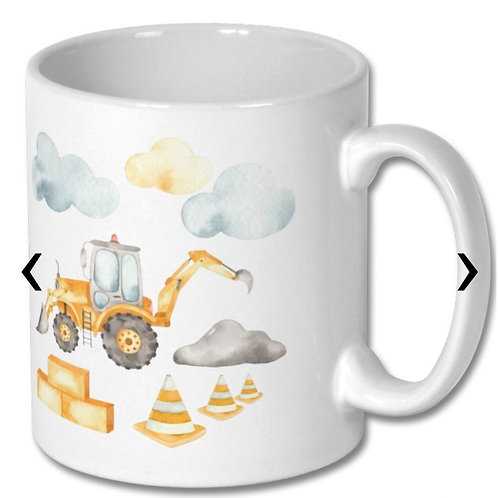 Front and Backhoe Loader Themed Personalised Mug