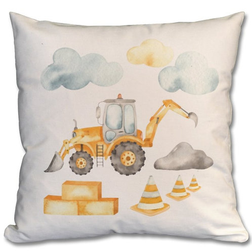 Front and Backhoe Loader Themed Personalised Cushions