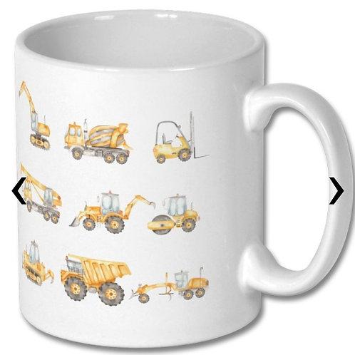 Construction Vehicles_2 Themed Personalised Mug