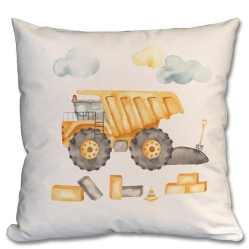 Dump Truck_2 Themed Personalised Cushions
