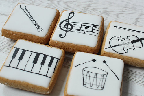 Gluten-free music themed Gingerbread Biscuits