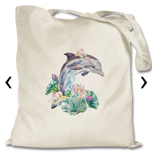 Dolphin Themed Personalised Tote Bag