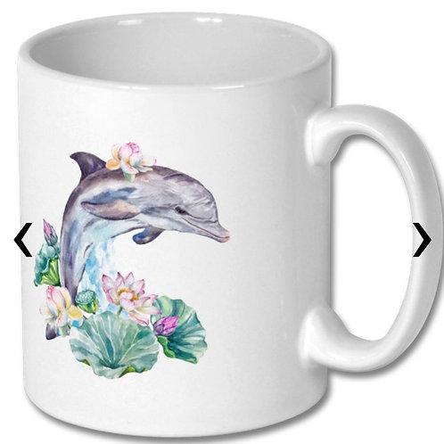 Dolphin Themed Personalised Mug