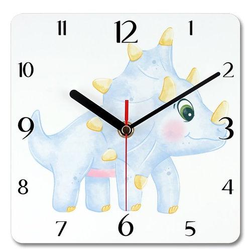 Dinosaur_8 Themed Personalised Square Clock