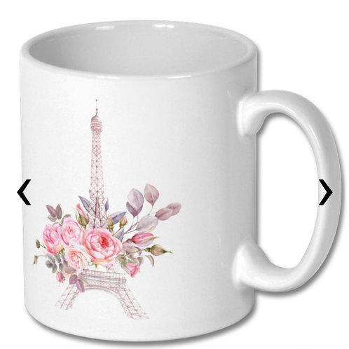 Eiffel Tower Themed Personalised Mug