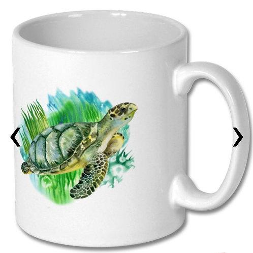 Sea Turtle Themed Personalised Mug