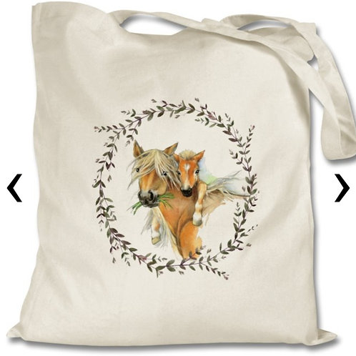 Horses Themed Personalised Tote Bag