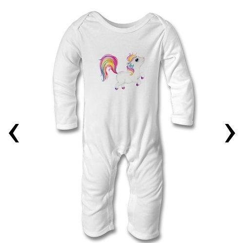 Pony_9 Themed Personalised Baby Bodysuit