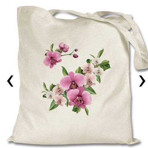 Orchids Themed Personalised Tote Bag