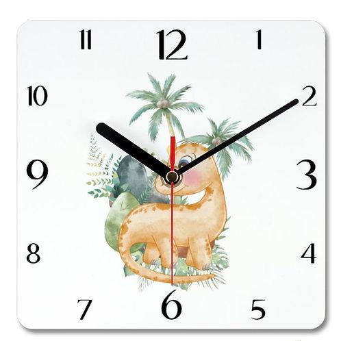 Dinosaur_4 Themed Personalised Square Clock