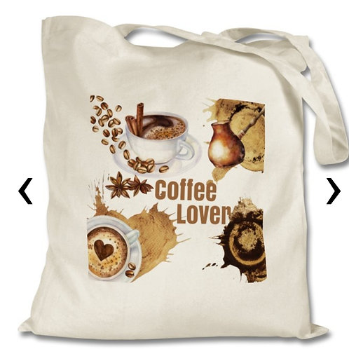 Coffee Lover_2 Themed Personalised Tote Bag