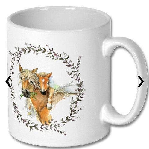 Horses themed Personalised Mug