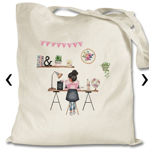 Office Girl_1 Themed Personalised Tote Bag