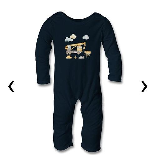 Crane Themed Personalised Baby Bodysuit