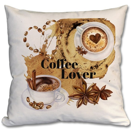 Coffee Lover Themed Personalised Cushions
