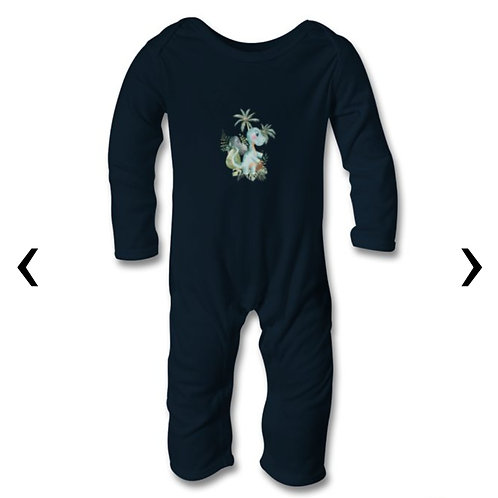 Dinosaur_6 Themed Personalised Baby Bodysuit